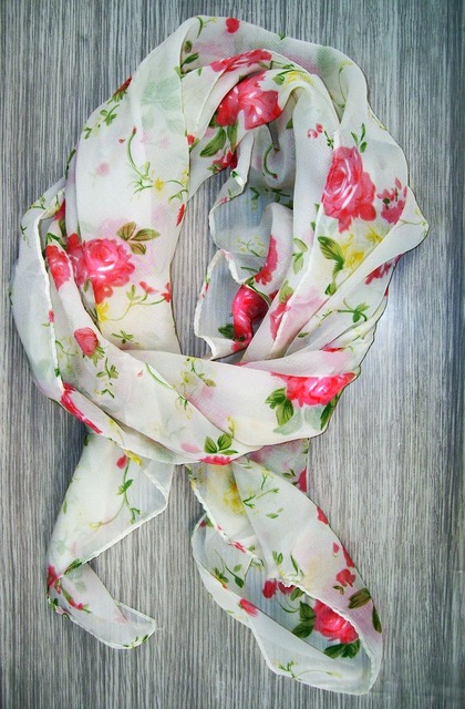 A neckerchief scarf material, beauty fashion.