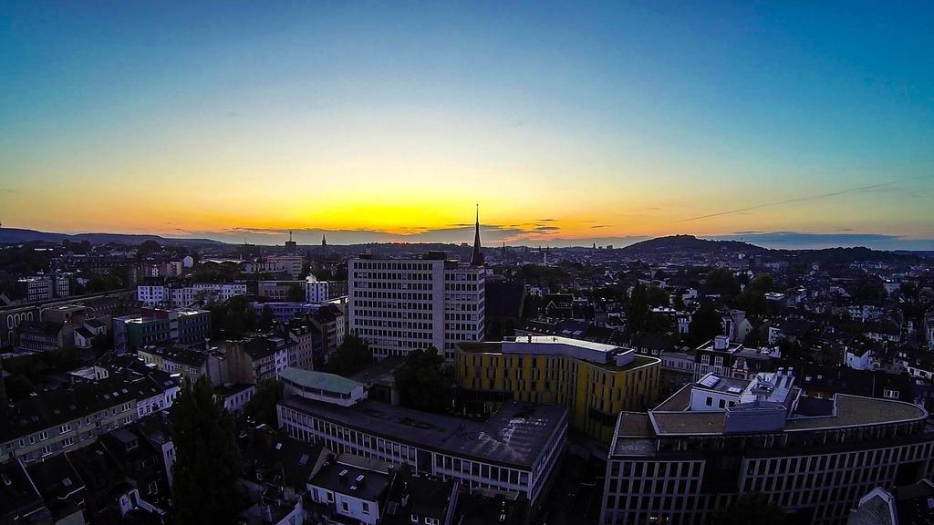 Aachen evening evening sky, travel vacation.