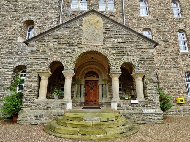 Abbey architecture entrance, architecture buildings.