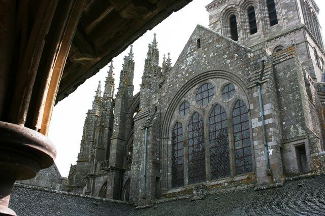 Abbey mont saint-michel normandy.