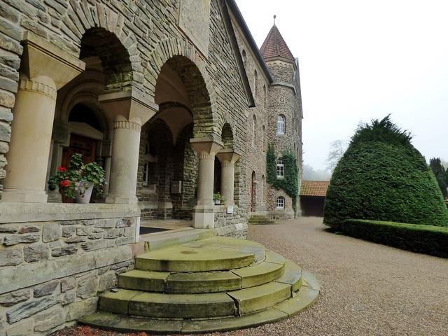 Abbey trap entrance.