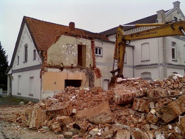 Abort house demolition demolition, architecture buildings.
