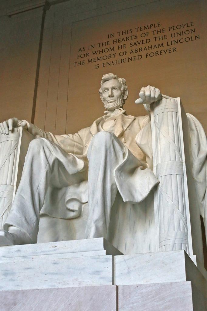 Abraham lincoln lincoln memorial united states.