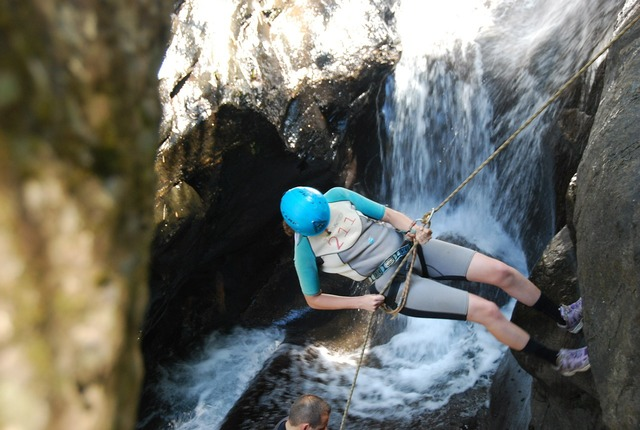 Abseiling canyoning sports.