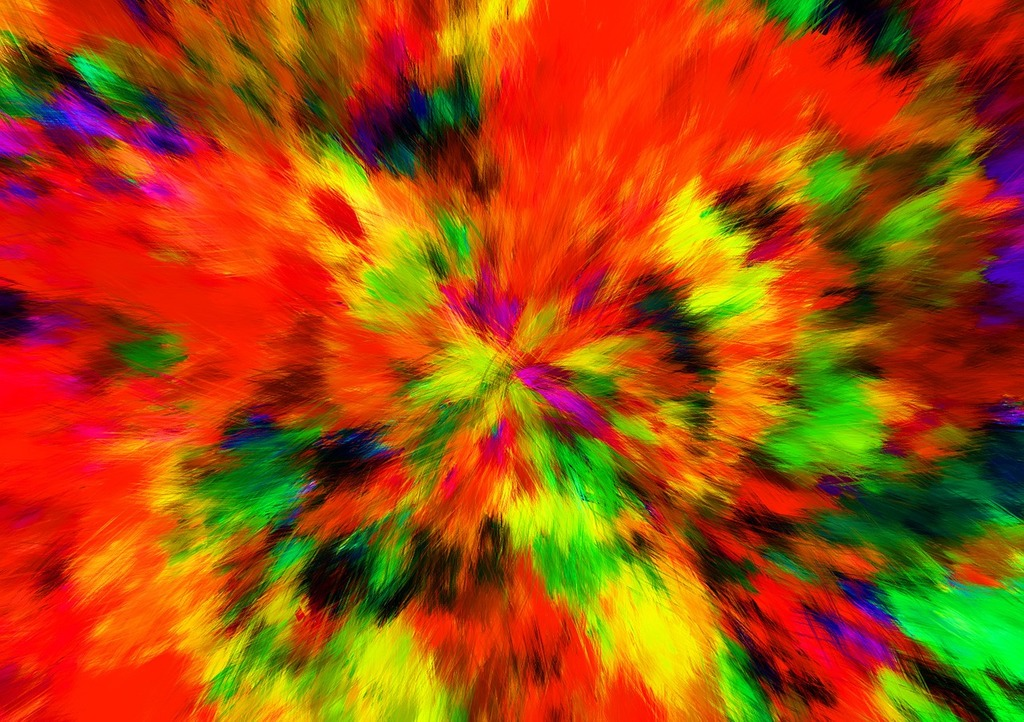 Abstract color burst, backgrounds textures  - PICRYL Public