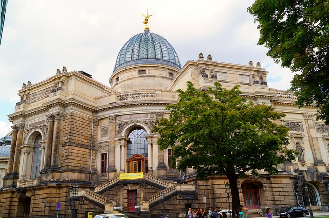 Academy of fine arts dresden dome building, architecture buildings.