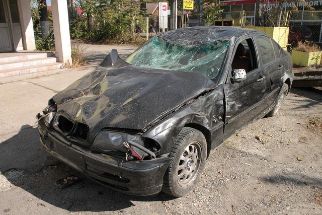 Accident bmw car, transportation traffic.