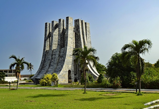 Accra ghana west africa, architecture buildings.