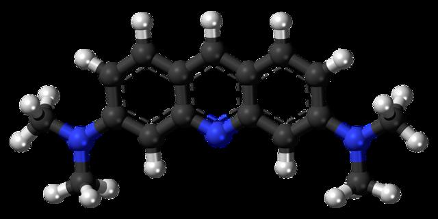 Acridine fluorescent dye molecule, science technology.