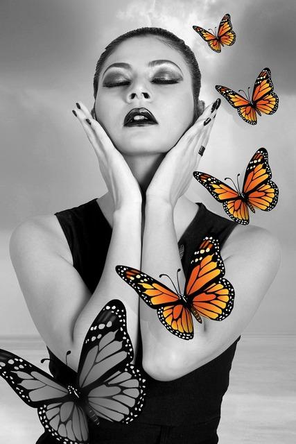 Actors art butterfly.