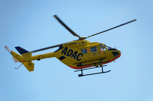 Adac helicopter yellow angel.