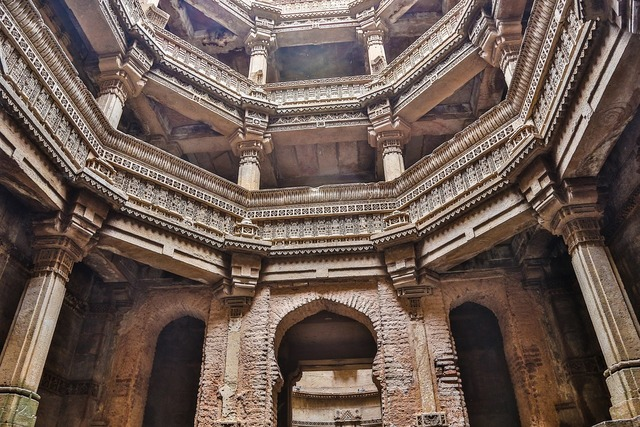 Adalaj step well adalaj ni vav gujarat, travel vacation.