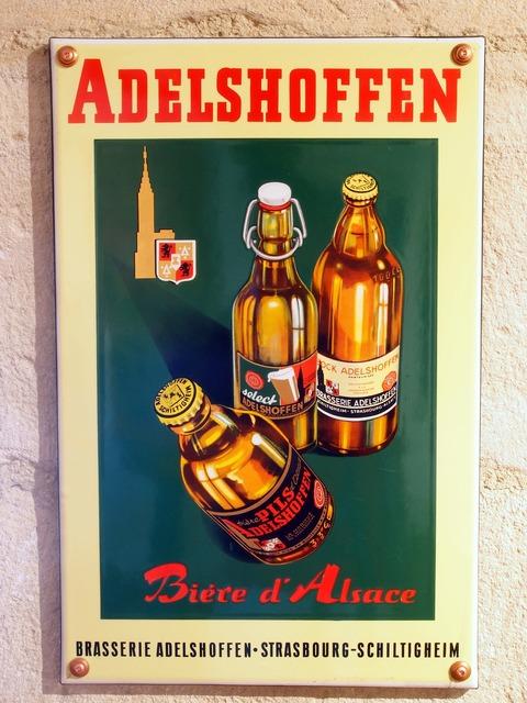 Adelshoffen beer advertising.