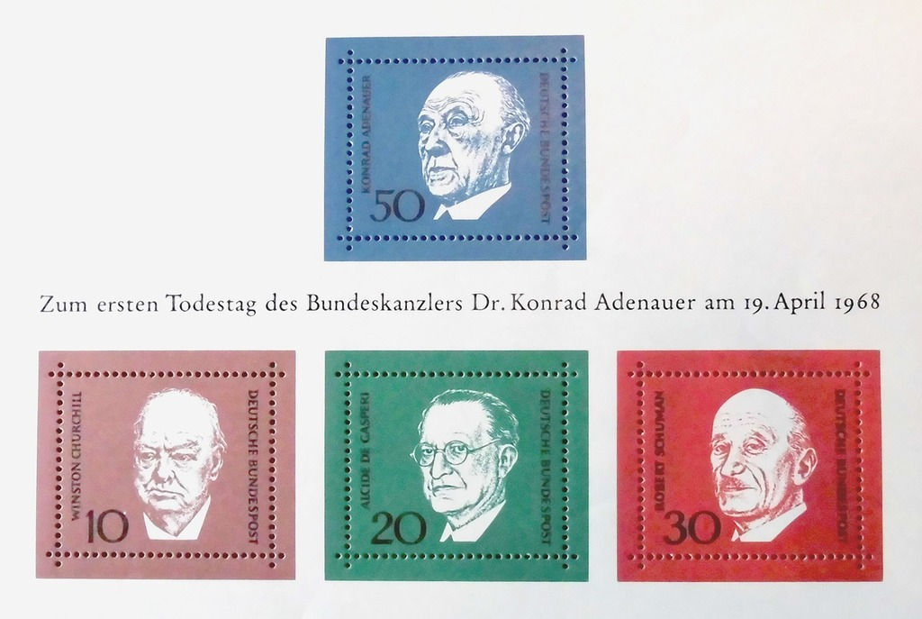 Adenauer stamp date of death.