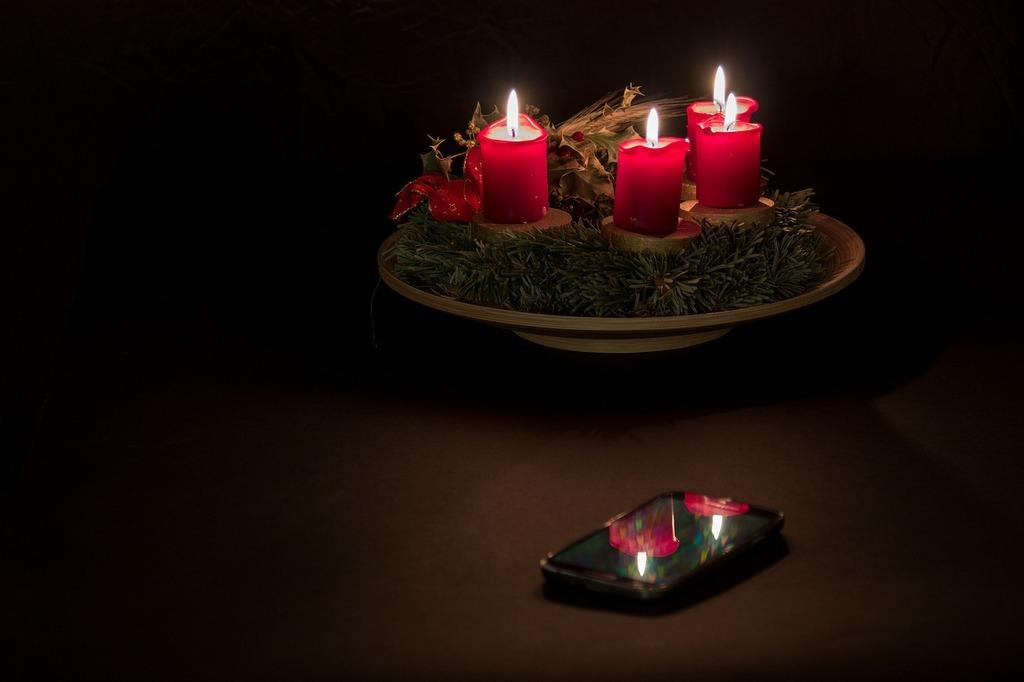 Advent advent wreath christmas time.