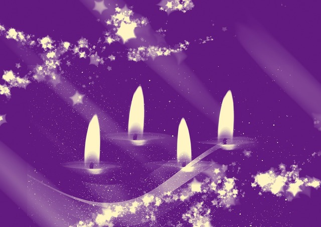 Advent candles christmas time.