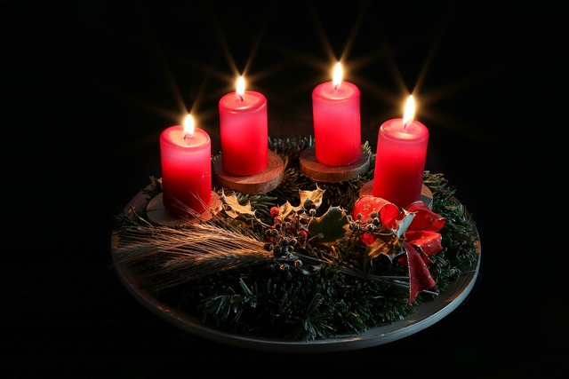 Advent christmas candle.
