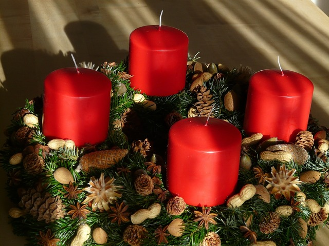 Advent wreath advent candles.