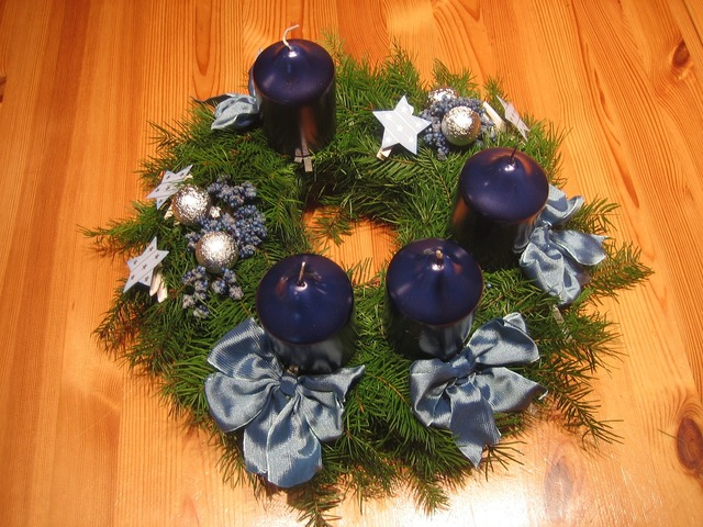 Advent wreath christmas.