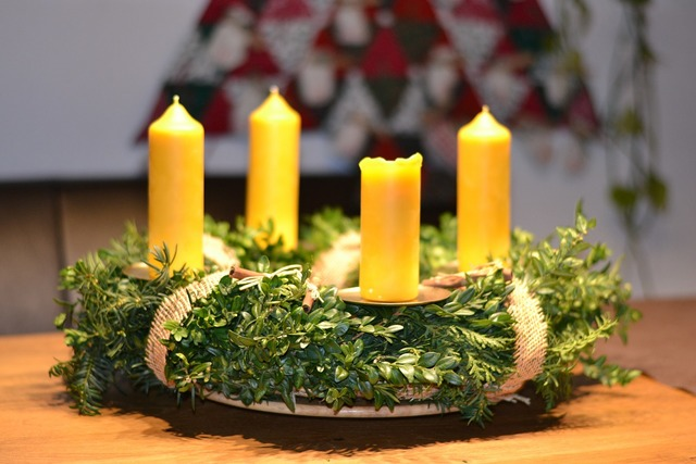 Advent wreath christmas deco.