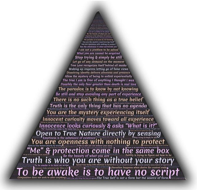 Adyashanti wisdom triangle.