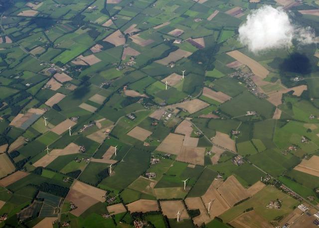 Aerial view cloud flight.