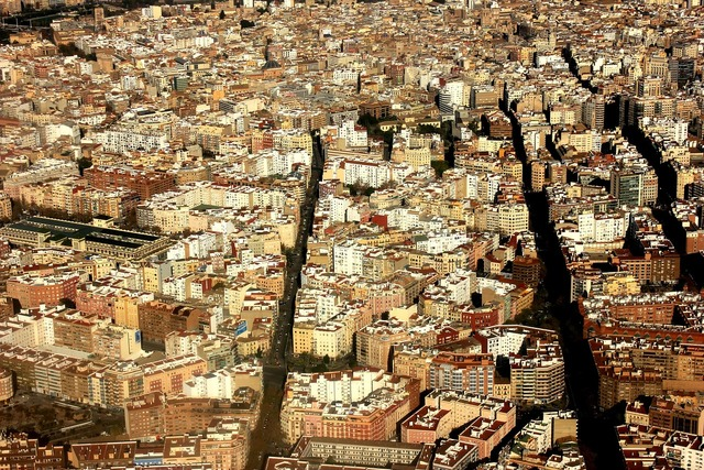 Aerial view valence spain.