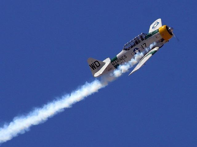 Aerobatics aircraft marines.