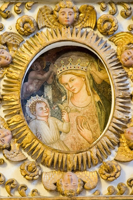 Affresco della madonna our lady basilica copertino.