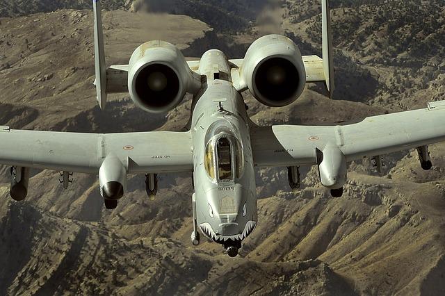 Afghanistan a-10 thunderbolt ii jet.