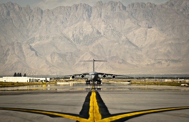 Afghanistan air base aircraft.