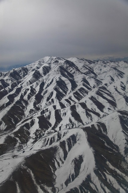 Afghanistan mountains helicopter ride.