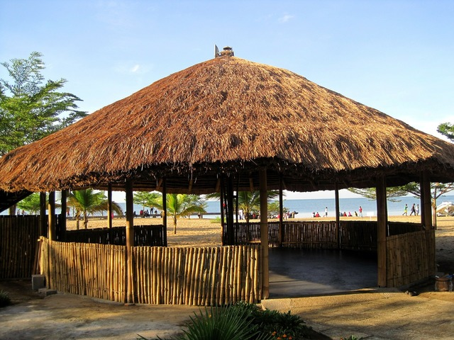 Africa thatch roof lapa.