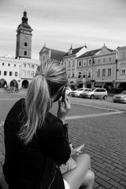 Afternoon czech budejovice square.