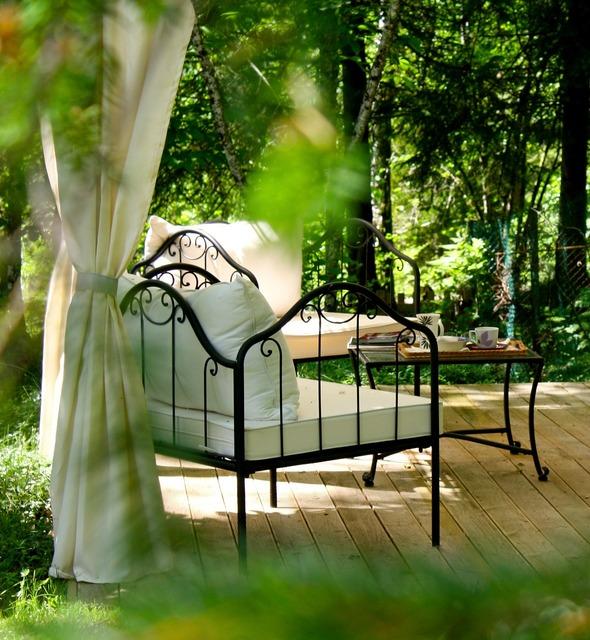Afternoon tea garden relax.