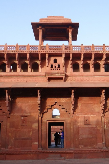 Agra fort castle palace, architecture buildings.