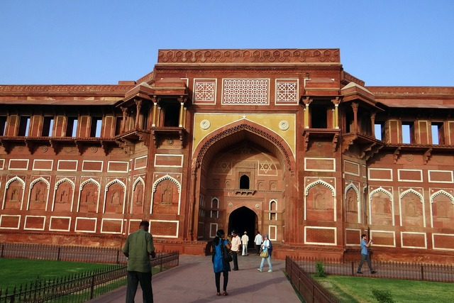 Agra fort unesco heritage jahangir mahal, architecture buildings.