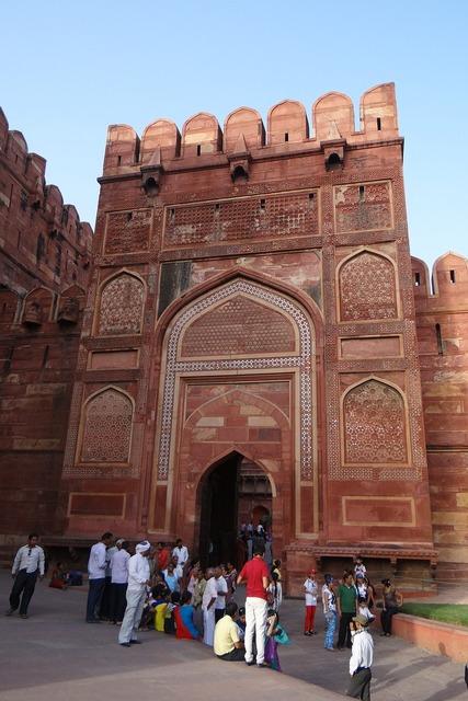 Agra fort unesco site castle, architecture buildings.