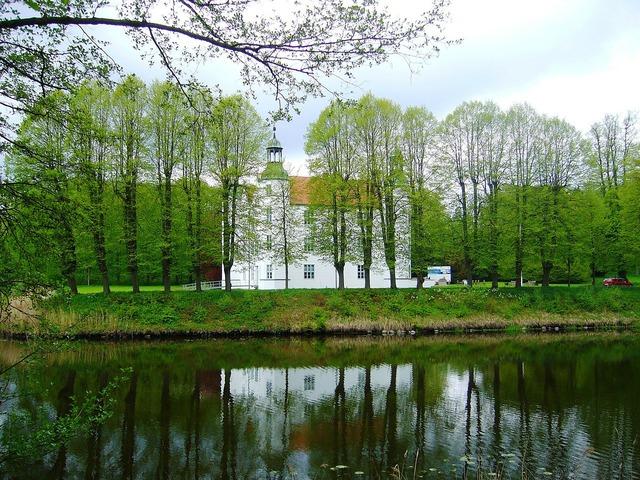 Ahrensburg castle palace, architecture buildings.