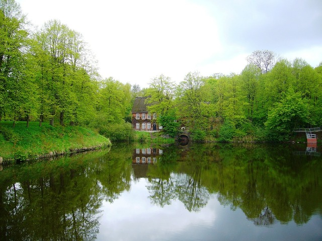 Ahrensburg germany water, nature landscapes.