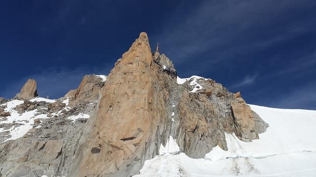 Aiguille du midi chamonix mountain station.