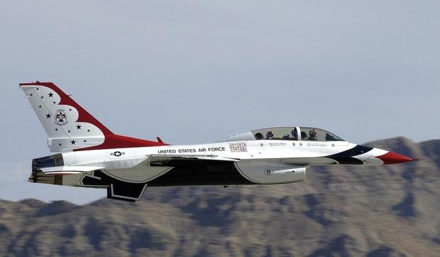 Air show thunderbird precision.