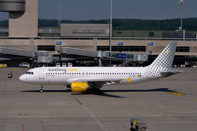 Airbus a320 vueling aircraft.