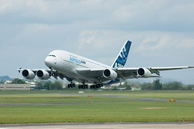 Airbus a380 airplane.