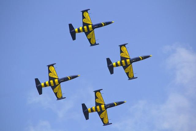 Aircraft air show himmel.