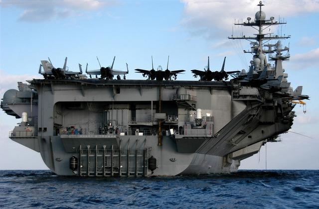 Aircraft carrier military uss harry s truman.