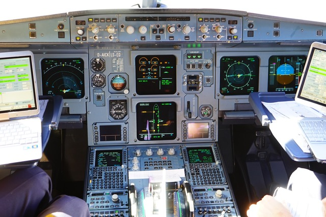 Aircraft cockpit aviation.