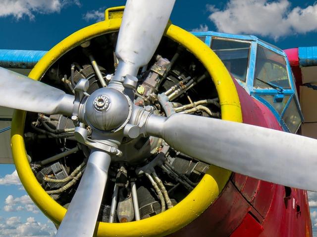 Aircraft double decker propeller plane, science technology.