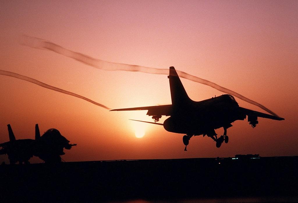 Aircraft fighter jet a-7 corsair, travel vacation.