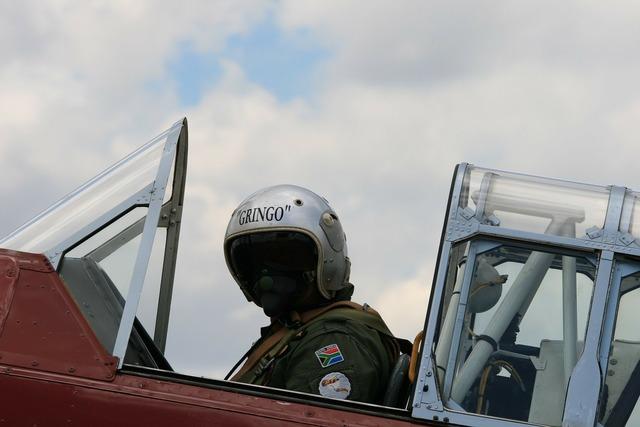 Aircraft harvard cockpit.